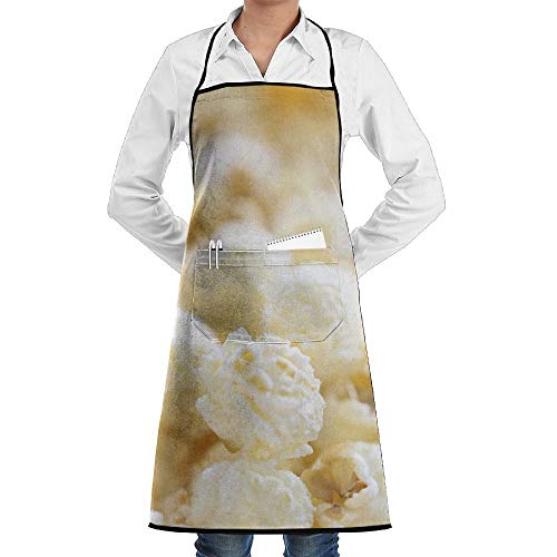 dfgjfgjdfj Popcorn Coke Schürze Lace Adult Mens Womens Chef Adjustable Polyester Long Full Black Cooking Kitchen Schürzes Bib with Pockets for Restaurant Baking Crafting Gardening BBQ Grill