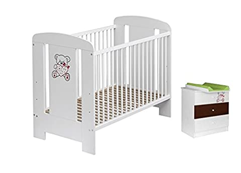 Best For Kids Gitterbett + Wickelkommode My Sweet Baby Babyzimmer