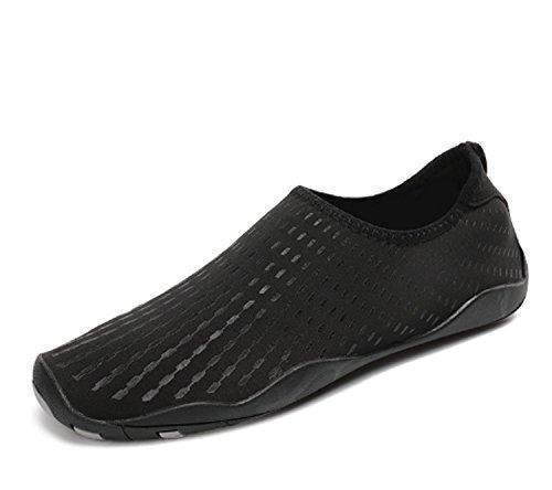 Scarpe da uomo Scarpe da passeggio antiscivolo Scarpe da nuoto da sub Scarpe sportive con la suola morbida Summer Gym Yoga Black