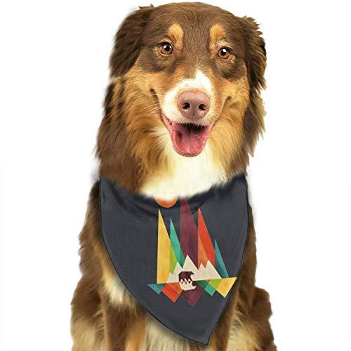 Rghkjlp Dogs Bandana Collars Colorful Mountain Bear Pets Triangle Neckerchief Puppy Bibs Scarfs Cats Scarfs Towel