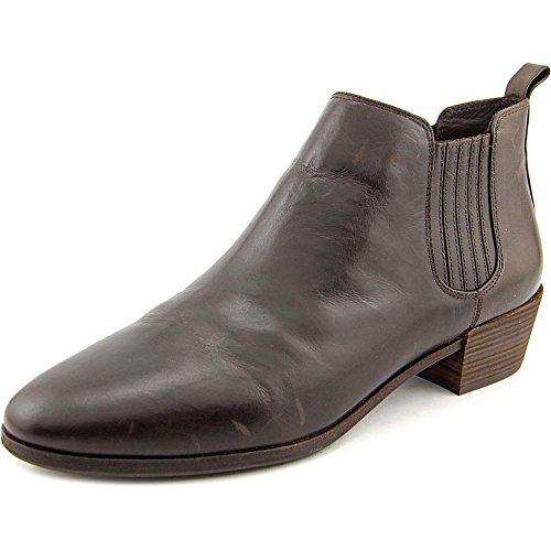 Michael Kors Michael Shaw Flat Bootie Toe ronde en cuir Bootie Dk Chocolate
