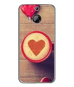 PrintVisa Designer Back Case Cover for HTC One M9 Plus :: HTC One M9+ :: HTC One M9+ Supreme Camera (Coffee With Heart Cute Design)