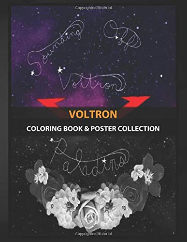 Coloring Book & Poster Collection: Voltron Voltron Inspired Sound Off Artwork Anime & Manga