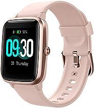 Willful Smartwatch,Reloj Inteligente con Pulsómetro,Cronómetros,Calorías,Monitor de Sueño,Podómetro Monitores