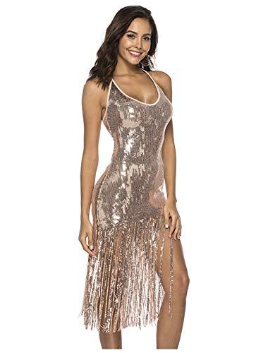 L'VOW Damen Pyjama Set, Baumwolle Nachtwäsche Kurzarm Lounge 2 Stück Pj Sets Klein Gold - 2 Stück Kurzarm-pyjama