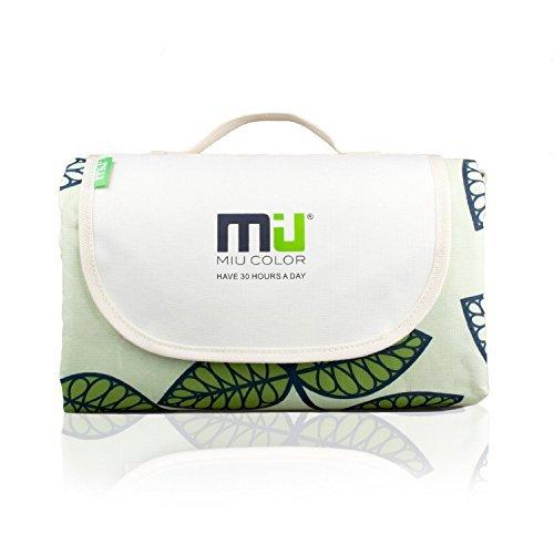 MIU COLOR® - Robusto tappeto per picnic, con maniglie, resistente all'umidità, all'acqua e alla sabbia, ripiegabile.