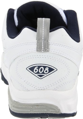 New Balance - Mens 608 Cushioning X-training Shoes White with Blue & Silver