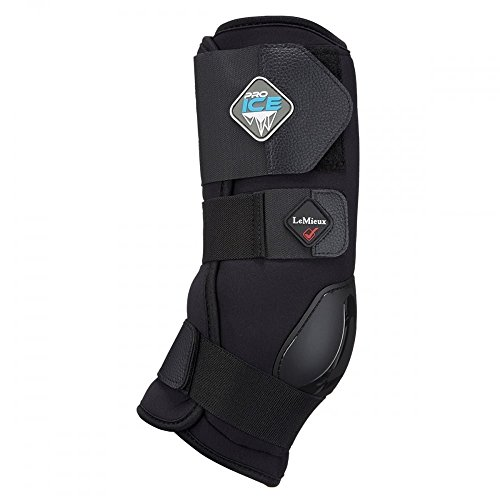 LeMieux Satteldecke Unisex Pro Ice Stiefel, groß, Schwarz