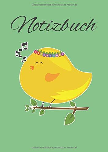 Notizbuch: Punktiertes Notizbuch mit süßem Vogel und mit 120 Seiten für alle Notizen, Termine, Skizzen oder als Tagebuch, Kalender oder Geschenk