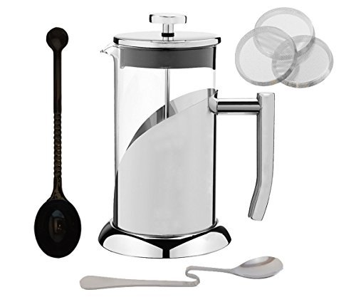 Küche Essentials French Press Kaffeemaschine Set – Edelstahl French Coffee Press – 34 oz