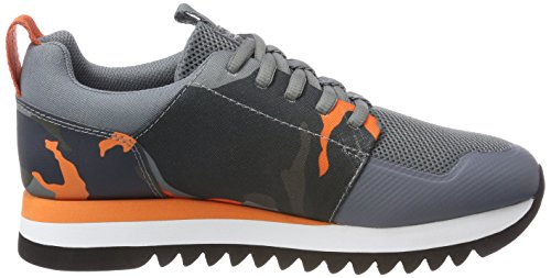 G-STAR RAW Damen Deline AOP Sneaker Orange (Blazing Orange/ Asfalt Aop 9276)