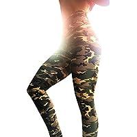 Pantalones Yoga Mujeres Estampado de Camuflaje Leggins Fitness Pantalones Elasticidad de Moda Empalmada Cintura Alta Elasticidad