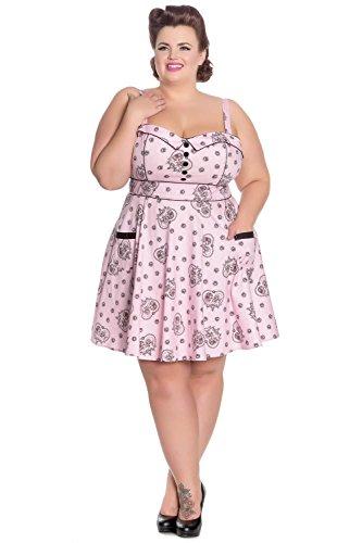 Hell Bunny Kleid KEEPSAKE MINI DRESS 4709 rosa Rosa