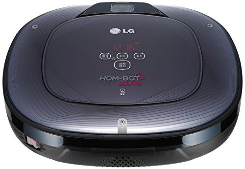 LG VR64703LVM Robot Hom Bot Square Aspirapolvere, Rosso/Nero