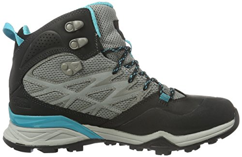 The North Face W Hedgehog Hike Mid Gtx, Chaussures de Marche Femme Gris (Steeplgy/Blubrd)