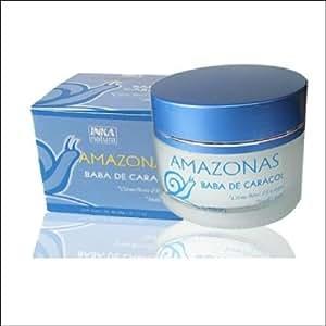 Terra Amazonas Crème à la bave d'escargot recette inca soin intensif pour une peau lumineuse et douce 50g.