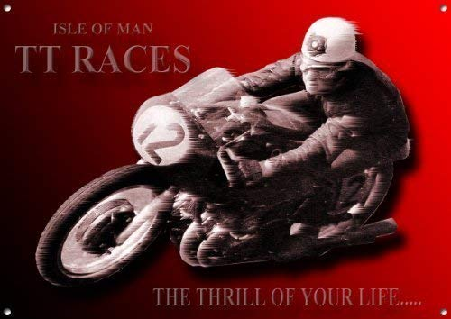 ISLE OF MAN TT RACES MOTORRAD BLECHSCHILD.