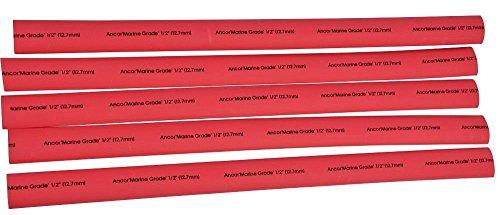Ancor 639-306648Marine Grade Tubo Tubi, colore: rosso, adesivo, 19x 1216mm