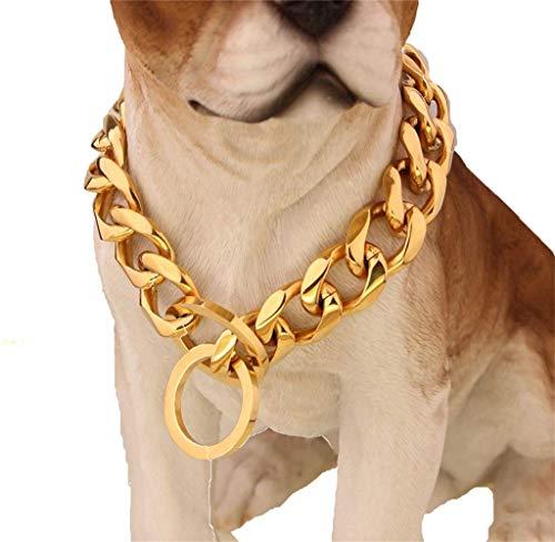 MUJING Benutzerdefinierte Ultra Starke 19MM Slip Kette Hundehalsband - Für Pit Bull Mastiff Bulldog Große Rassen,G