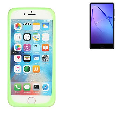 K-S-Trade Für Leagoo KIICA Mix Silikonbumper/Bumper aus TPU, Grün Schutzrahmen Schutzring Smartphone Case Hülle Schutzhülle für Leagoo KIICA Mix
