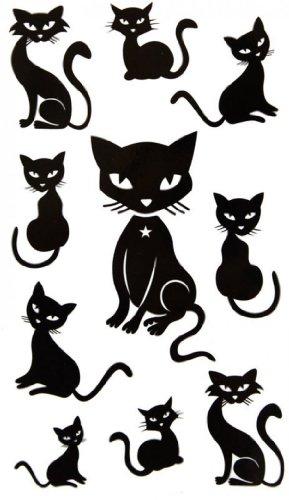SPESTYLE wasserdicht ungiftig temporäre Tätowierung stickersWaterproof schwarzes Tier temporäre Tattoos sexy niedliche Kätzchen (Temporäre Tattoo Kätzchen)