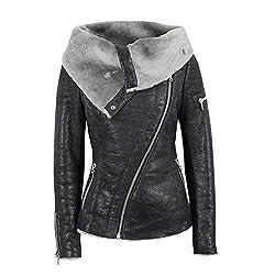 0b3d0ca3253ca Damark Abrigos Abrigo de Invierno para Mujer Cremallera Asim trica De  Terciopelo Plus Abierto con de ...