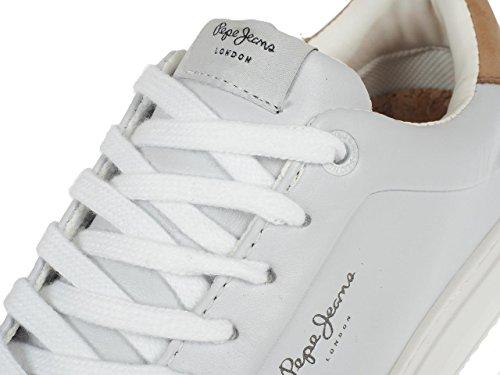Pepe Jeans Adams Basic W, Scarpe da Ginnastica Basse Donna Bianco (White)