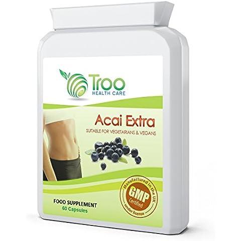 Acai Extra 60 Capsules - Acai Berry Fat Burner Weight Loss Formula with Green Tea, Guarana Extract &