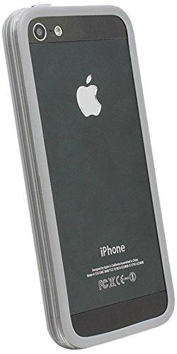 GreatShield AEGIS PC + TPU Bumper Case for iPhone 5/5s/SE - Transparent Purple Transparent Gray