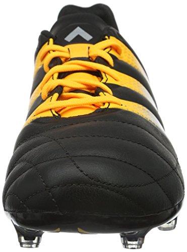 adidas Ace 16.2 FG/AG Leather, Chaussures de Football Compétition Homme, Mehrfarbig Schwarz (Core Black/Silver Met./Solar Gold)