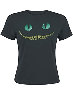 Alicia en el país de las maravillas - camiseta del gato de Cheshire - mujer - de la película de Tim Burton - ajustada...