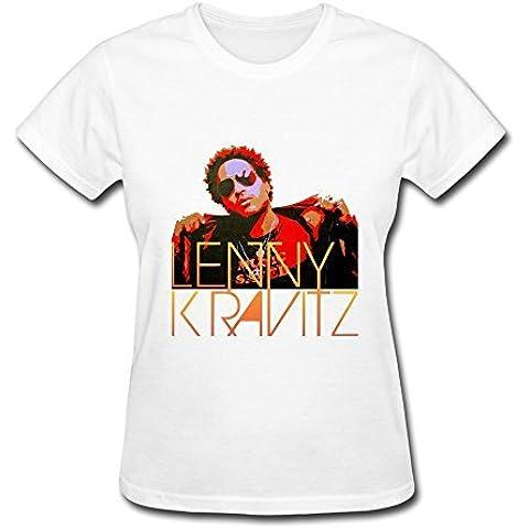 Alida Liuwer Women's Short Sleeve T Shirt Lenny Kravitz Head Portrait Poster White