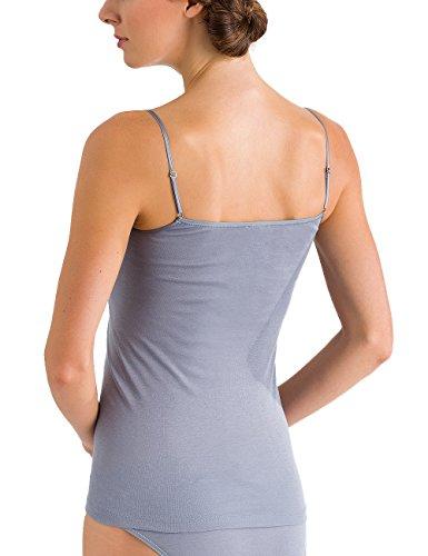 Hanro Damen Unterhemd Moments Grau (Lilac Grey 1460). Elegantes Spaghetti- Top ... 9e84991afa
