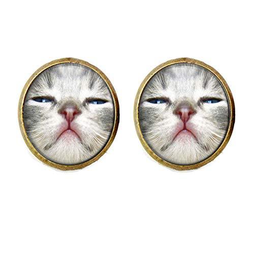 Lustige Manschettenknöpfe Katze Schmuck Katze Katze Katze Katze Katze Katze Liebhaber Geschenk (Süße Halloween Geschenke Für Lehrer)