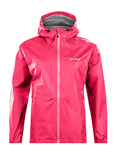 Berghaus Damen Deluge Light Wasserfeste Jacke, Rosa (Pink Peacock), 12 (M) North Face Mountain Light Jacket