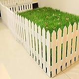 YiNuo Zäune Gartenzaunpfosten Schirm Kind Leitschiene abgeschnittene Hochtemperatur-Verkokung Stable Durable Indoor Massivholz, 3 Größen (Color : White-4pcs, Size : 50x30cm)