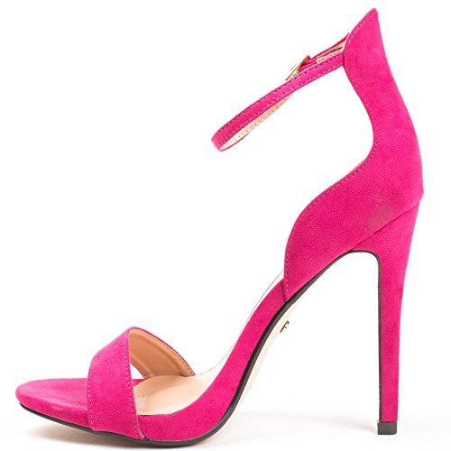 Ideal Shoes, Damen Sandalen Fuchsia