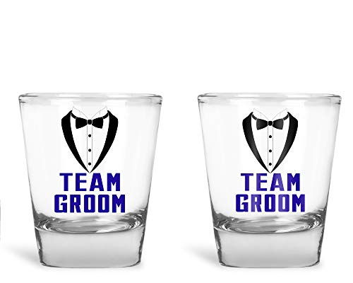 Schnapsgläser für Bräutigam, Bräutigam, Bachelor, Party, Hochzeit, 60 ml Groom Drinking Team Groom Drinking Team