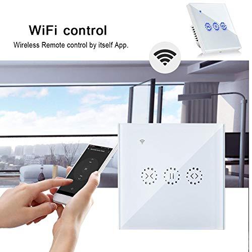 feiledi Trade Intelligenter Vorhang-Rollenschalter Drahtlose WiFi-elektrische Jalousienschalter Touch Control Wandschalter mit Timer Alexa Google-Startseite-Support