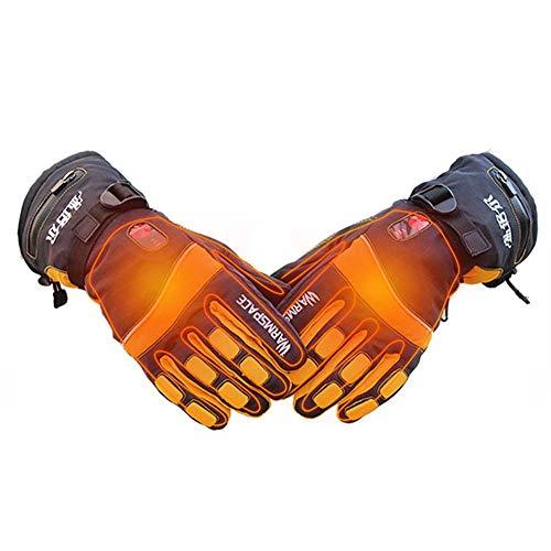 Beheizte Handschuhe Motorrad Herren Ski Damen Outdoor Elektrische Skihandschuhe Finger Doppelseitige Heizung Temperaturregelung Aufladen Wasserdicht -
