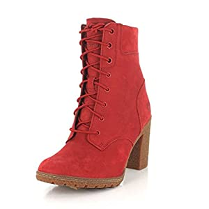 Timberland Womens Limited Release Ruby Red Glancy 6-inch Ruby Waterbuck Boot - 9.5 M