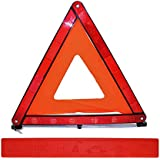 Gibtplus Warning Triangle Complies with European Standards ECE R27 Certified, Practical Carry Bag, Highly Reflective Design