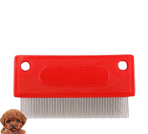 Milopon Flohkamm Staubkamm Läusekamm Nissenkamm für Hunde und Katze Kopf Pelz Läuse Behandlung & Entfernen Floh (Floh-behandlung Beste Katze)