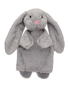 MU mubrno 20322a Conejos 26cm, Gris, marioneta de Mano
