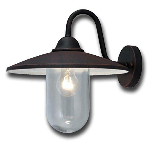 Lanterna a braccio colore nero in metacrilato pz 4 da giardino