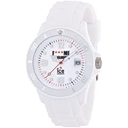 Ice-Watch F*** Me I'm Famous Classic-White Silicon Unisex 43mm FM.SI.WE.U.S