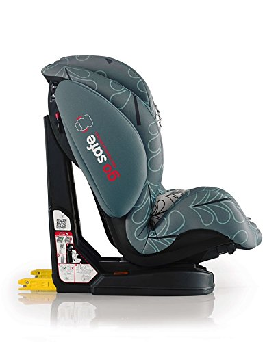 Cosatto Hug Isofix Car Seat Group 123, 9-36 kg, Fjord Cosatto Suitable from 9 kg-36 kg (9 months - 12 years approximatelyimately), Hug ISOFIX is an investment; it fits forward-facing in most cars with standard ISOFIX connectors and top tether anchor point The exclusive Five Point Plus Anti-Escape system deters determined wrigglers and diminishes driver distraction; it features extra-cushioned side impact protection for in-car security Impact protection for in-car security Hug ISOFIX has fabrics, a height-adjustable headrest and reclining padded seat for on-board comfort, plus easy-clean pop-off covers and liner to help you out 4