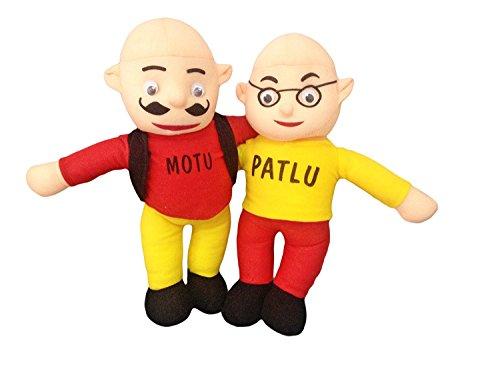 Laraib Trading Beautiful Motu Patlu Soft Toy for Kids (Height-38 cm, Multicolour)