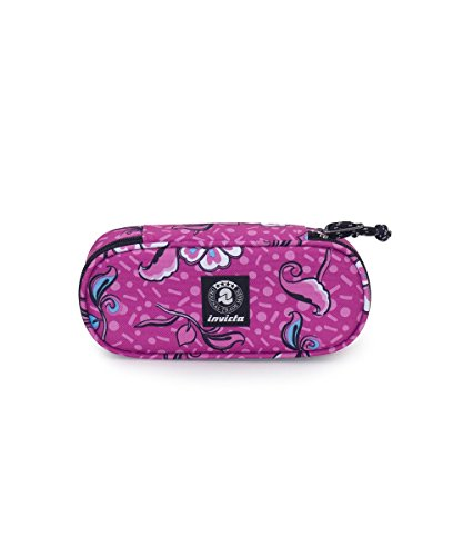 Portapenne invicta - lip pencil bag - rosa - porta penne scomparto interno attrezzato