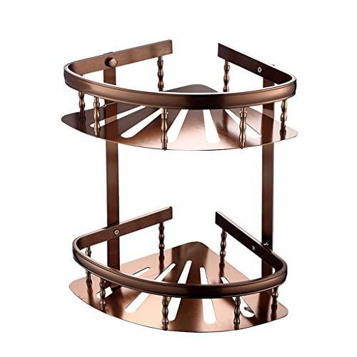 2-Tier Space Aluminium Duschecke Regal, Wandmontage Schrauben Bad Ecke Korb Für Toilette Küche -